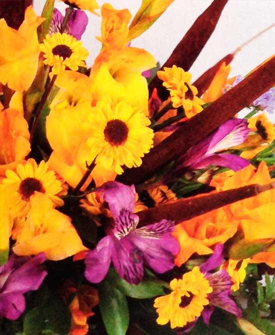 Diseno-floral-con-eneas-y-gladiolos-detalle