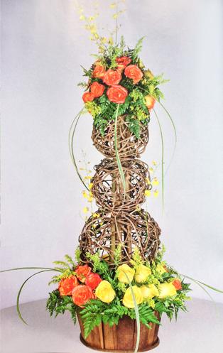 Diseno-floral-moderno-rosas-amarillas-orquideas