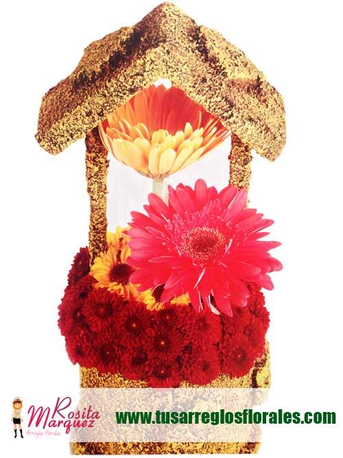 Arreglo-floral-con-gerberas-naranja-para-eventos