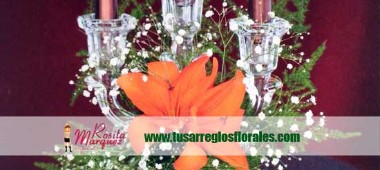 lirios-naranja-centros-de-mesa